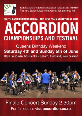 Poster: 2016 South Pacific and New Zealand Championships and Festival