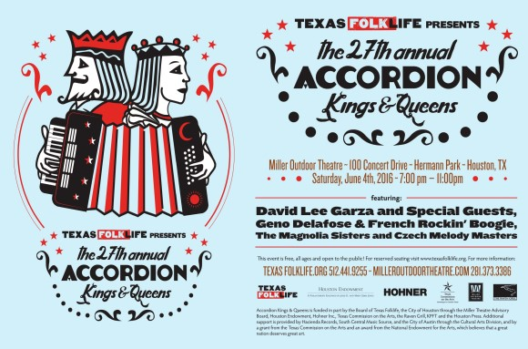 27th Annual Accordion Kings and Queens Festival poster