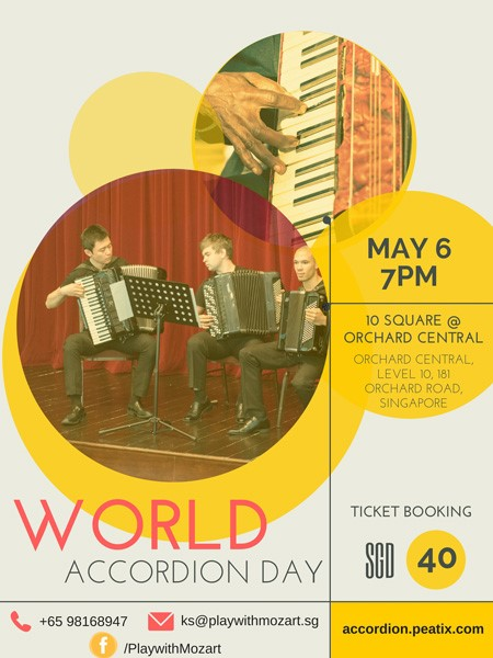Poster World Accordion Day Singapore