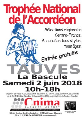Poster: Trophee National de l'Accordeon Regional Competition