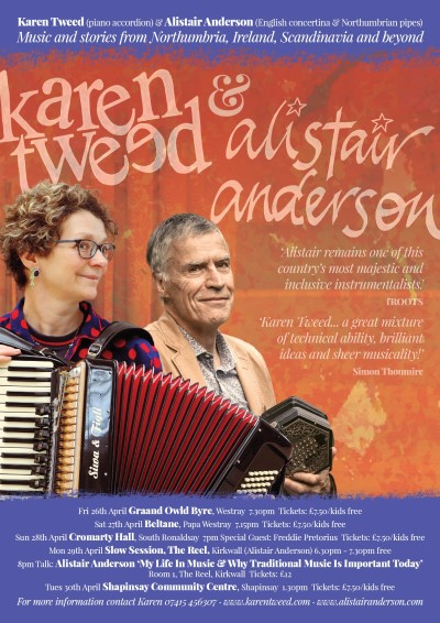 Karen Tweed Tour poster