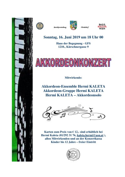 Accordion concert poster